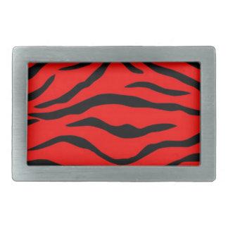 Red Tiger Pattern Belt Buckle