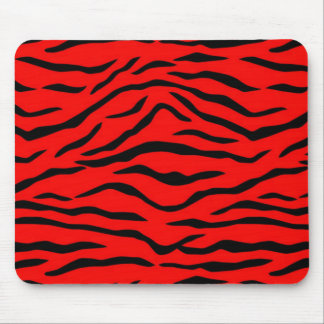 Red Tiger Pattern Mouse Pad