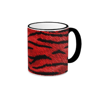 red tiger print mug