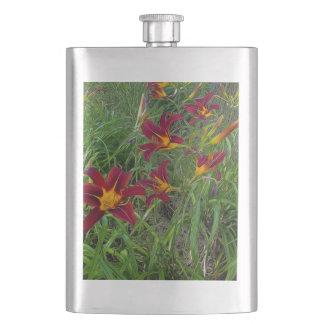 Red Tigerlily Garden Flask
