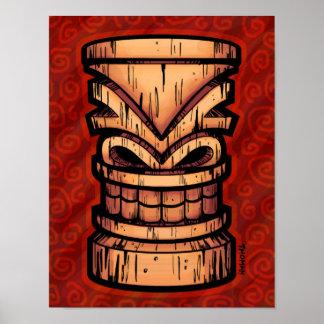 Red Tiki Print