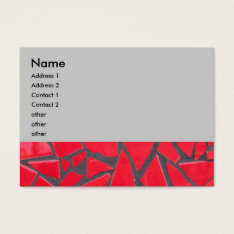 Red Tile Business Card at Zazzle