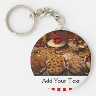Red Tile Desserts Keychains