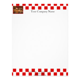 Red Tile Desserts Personalized Letterhead