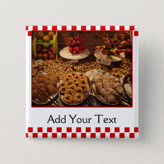 Red Tile Desserts Pinback Button