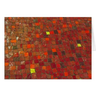 Red Tile Greeting Card