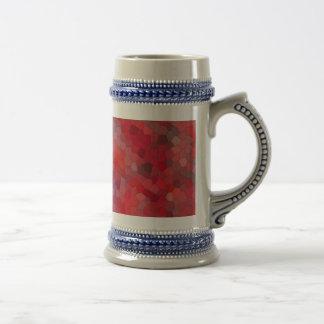 Red Tile Mosaic Beer Stein