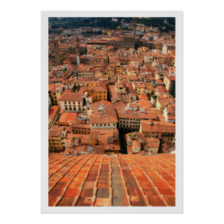 Red Tile Rooftops Poster