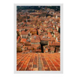 Red Tile Rooftops Print
