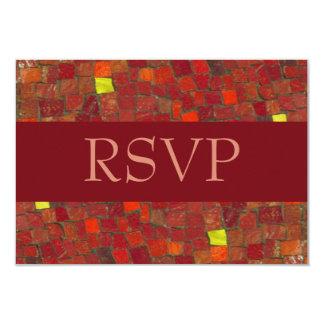 Red Tile RSVP Card