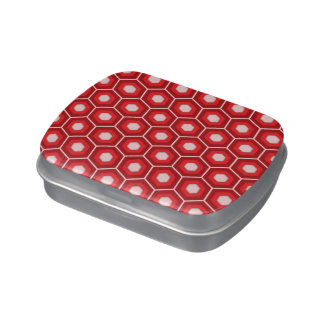 Red Tiled Hex Candy Tin