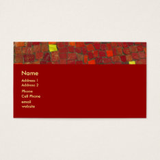 Red Tiles Business Card at Zazzle