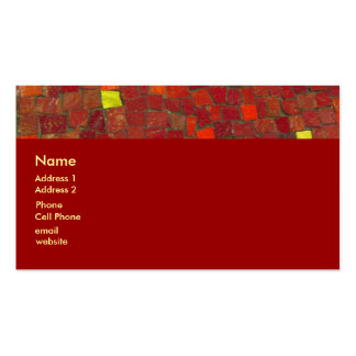 red tiles business card