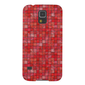 Red Tiles Case For Galaxy S5