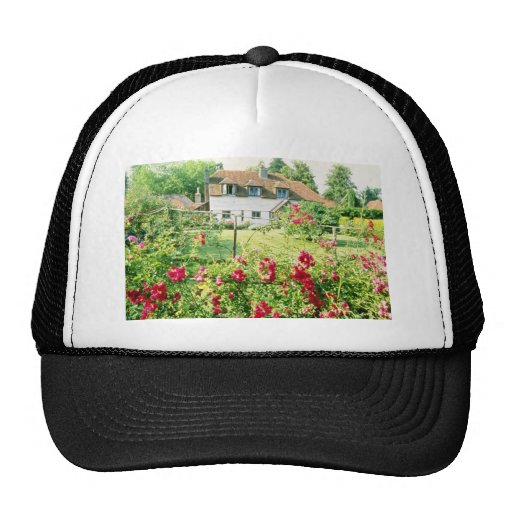 Red Timber-Framed House With Climbing Rose In Fore Trucker Hats