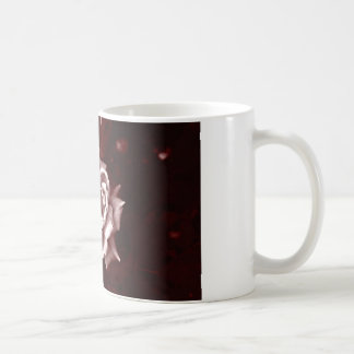 Red tinted Rose Mug