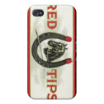 Red Tips cigars Covers For iPhone 4