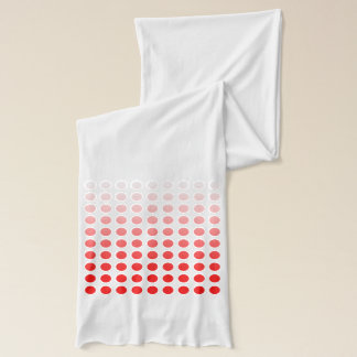 Red to White Polka Dot Fade Scarf Version 2