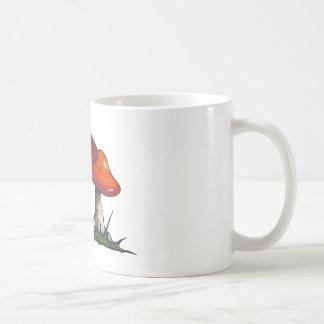 Red Toadstools, Mushrooms: Freehand Marker Art Coffee Mugs