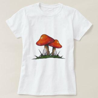 Red Toadstools, Mushrooms: Freehand Marker Art Shirt