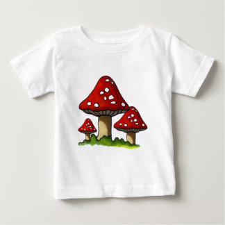 Red Toadtstools, Mushroom: Freehand Art Baby T-Shirt