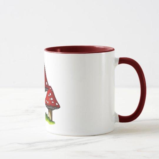 Red Toadtstools, Mushroom: Freehand Art Mug