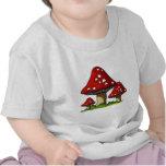 Red Toadtstools, Mushroom: Freehand Art Tshirt