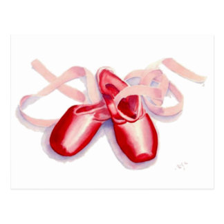 Red Toe Shoes Postcard