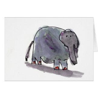 Red Toed Elephant • Conrad Mazur, Age 6 Card
