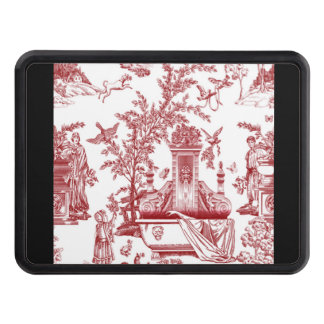Red Toile Pattern Design Hitch Cover