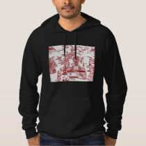 Red Toile Pattern Design Hoodie