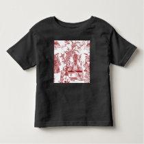 Red Toile Pattern Design Toddler T-shirt