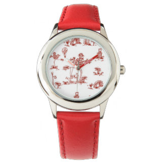Red Toile Unicorn Watch