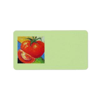 Red Tomato Address Label