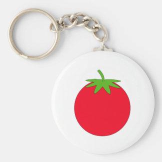 Red Tomato. Basic Round Button Keychain
