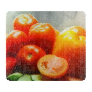 "Red Tomato Decorative Glass Chopping Board 6"" x 7"