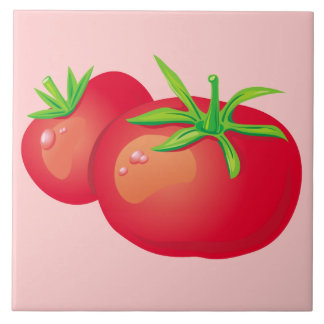Red Tomato Decorative Kitchen Tile