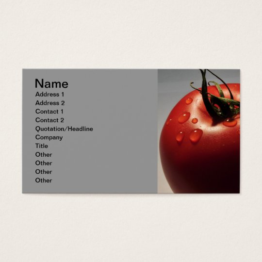 RED TOMATO FRESH FRUITS VEGETABLES HEALTHY YUMMY BUSINESS CARD