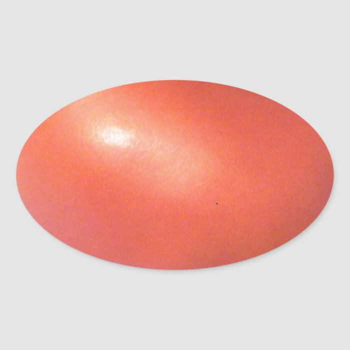 Red Tomato Oval Sticker