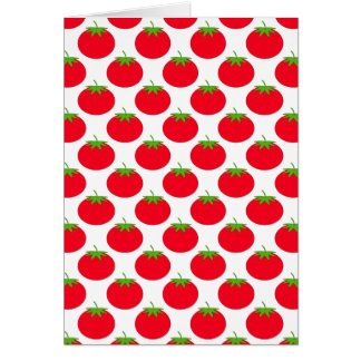 Red Tomato Pattern. Greeting Card