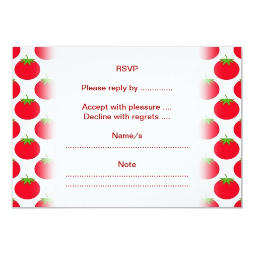 Red Tomato Pattern. Personalized Announcement