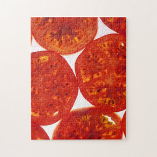 Red Tomato Slices Jigsaw Puzzle