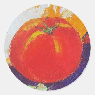 Red Tomato Round Sticker