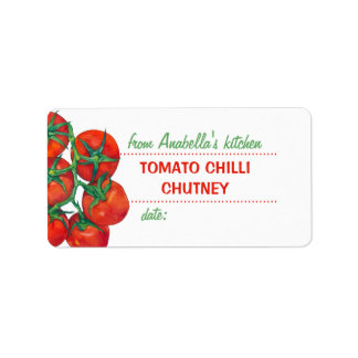 Red Tomatoes 2 Kitchen Preserves Label
