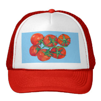 Red Tomatoes blue Hat