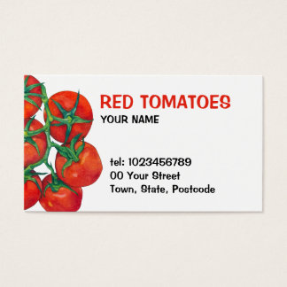 Red Tomatoes Business Card