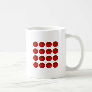 Red Tomatoes Collage Classic White Coffee Mug