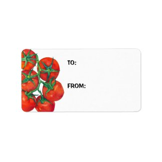 Red Tomatoes Gift Tag label