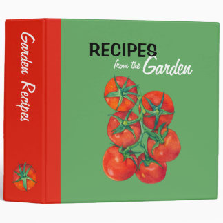 Red Tomatoes green Recipe Binder