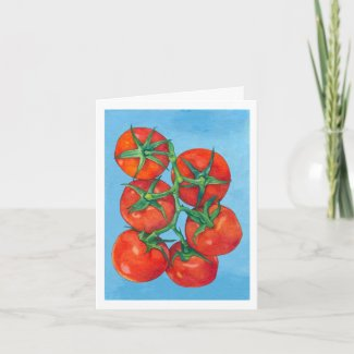 Red Tomatoes Note Card card